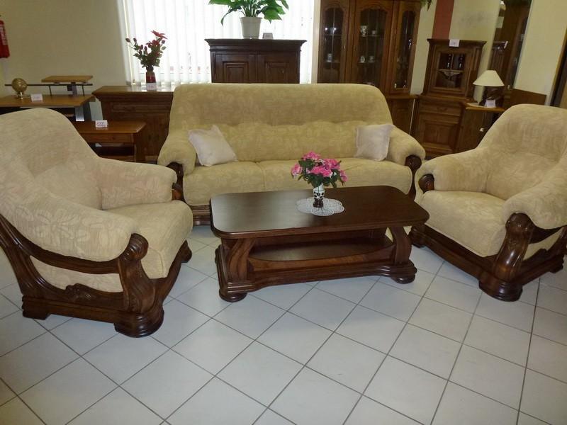 Použitá sedací souprava dřevěný nábytek masiv Praha