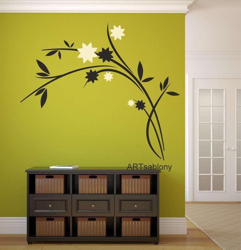 (3518n) Nálepky na stěnu - Propletené květy