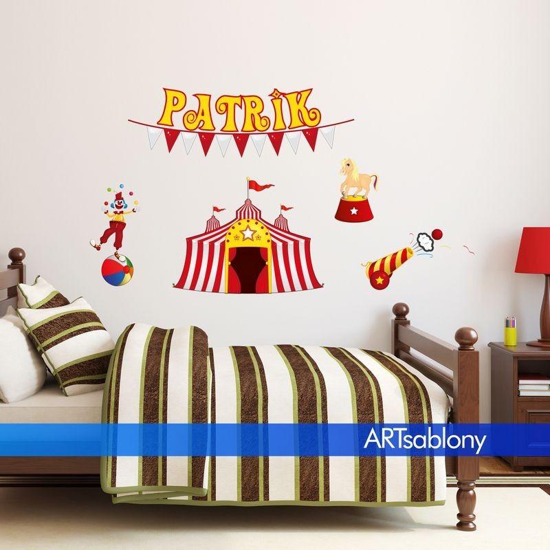 (3686f) Nálepka na stěnu - Cirkus