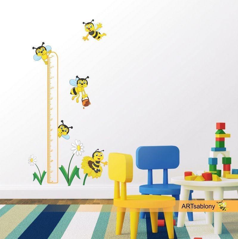 (3522f) Nálepka na stěnu - Metr včelky