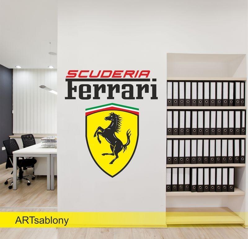 (3509f) Nálepka na stěnu - Ferrari