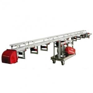 Lightweight portable conveyor system on a rigid metal