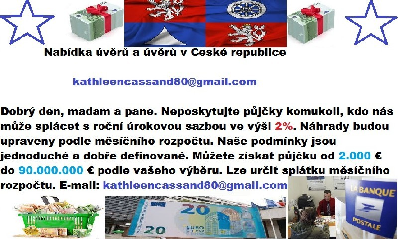 Nabídka úvěrů a úvěrů v České republice