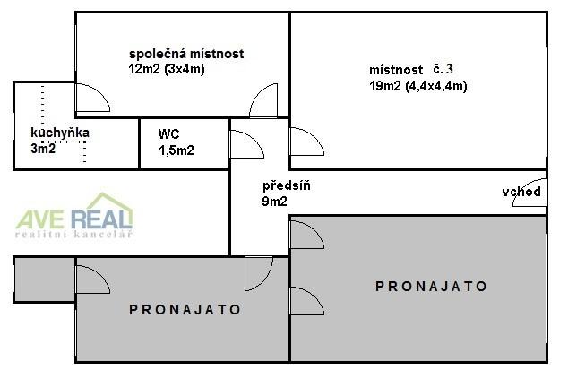 Pronájem zařízené kanceláře (31m2) v Praze 10 (Hostivař)