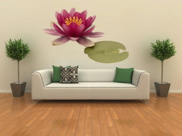 (258f) Nálepka na stěnu - Sisi květ