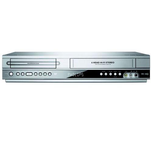 Kombinaci VIDEOREKORDÉRU (VHS) a DVD přehrávače.