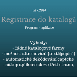 Program registrace do katalogů